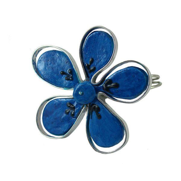 Brazaletes cinco hojas azul
