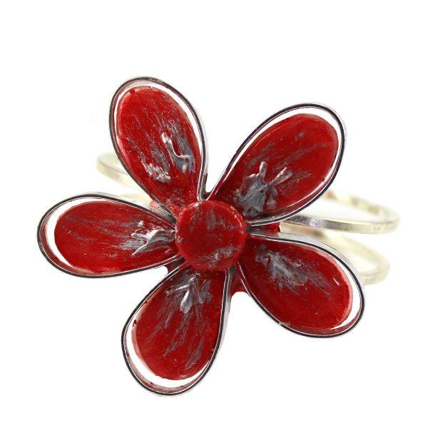 Brazaletes cinco hojas rojo