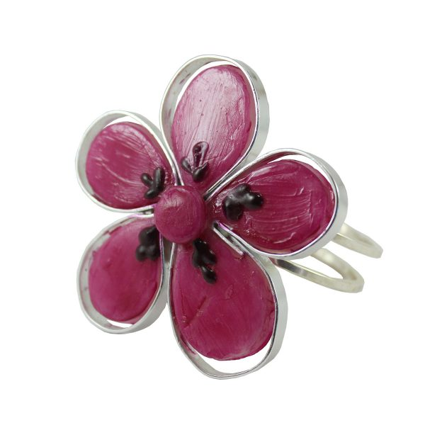 Brazaletes cinco hojas rosa