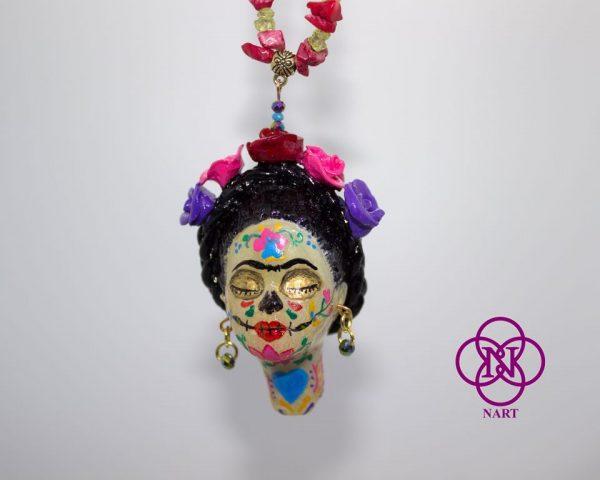Collar Rostro Coleccion Mujeres del Mundo Catrina Frida5