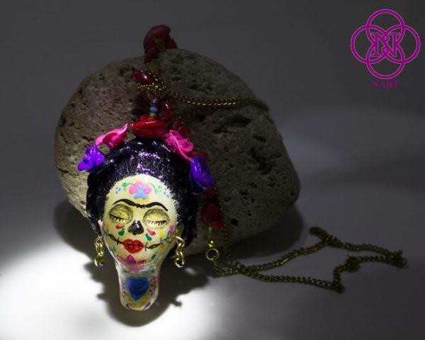 Collar Rostro Coleccion Mujeres del Mundo Catrina Frida3