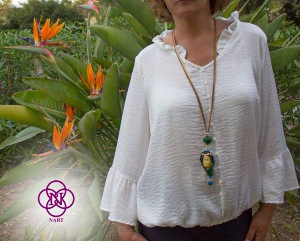 Collar Rostro Coleccion Mujeres del Mundo Turca verde 5