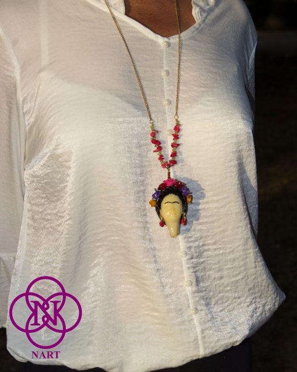 Collar Rostro Coleccion Mujeres del Mundo Frida 4