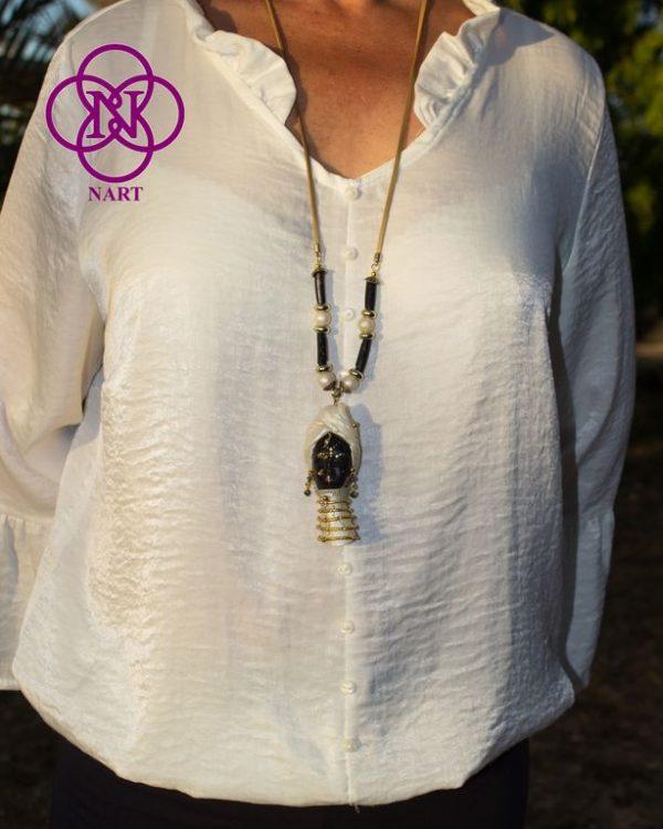Collar Rostro Coleccion Mujeres del Mundo Ndebele 5